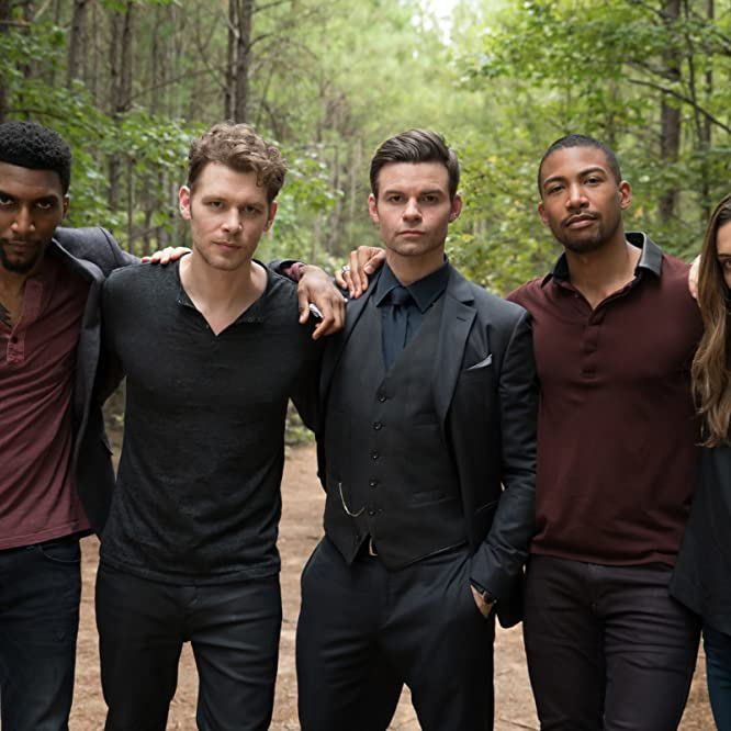 Yusuf Gatewood, Daniel Gillies, Joseph Morgan, Phoebe Tonkin, and Charles Michael Davis in The Originals (2013)