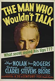 The Man Who Wouldn't Talk Poster