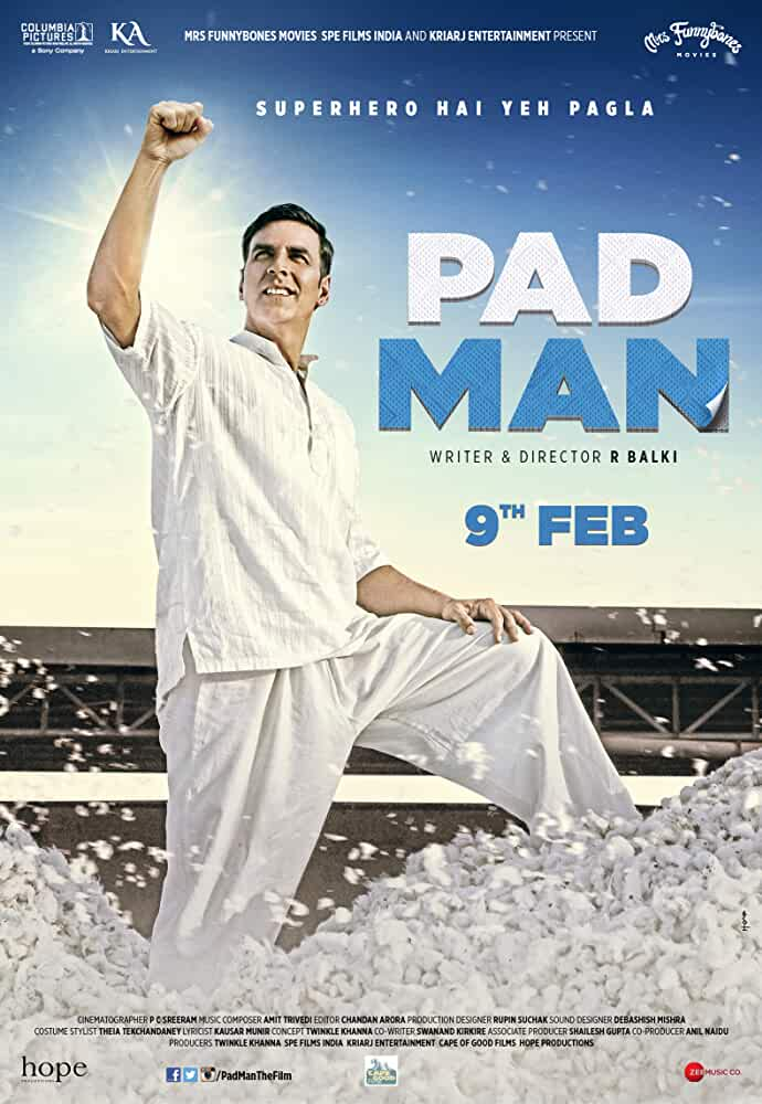 Padman (2018) 300MB Bollywood Hindi 480p Pre-DVDRip Movies MKV