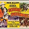 Slim Pickens, Rex Allen, Mary Ellen Kay, and Koko in Border Saddlemates (1952)