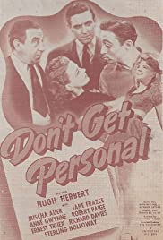 Don't Get Personal Poster