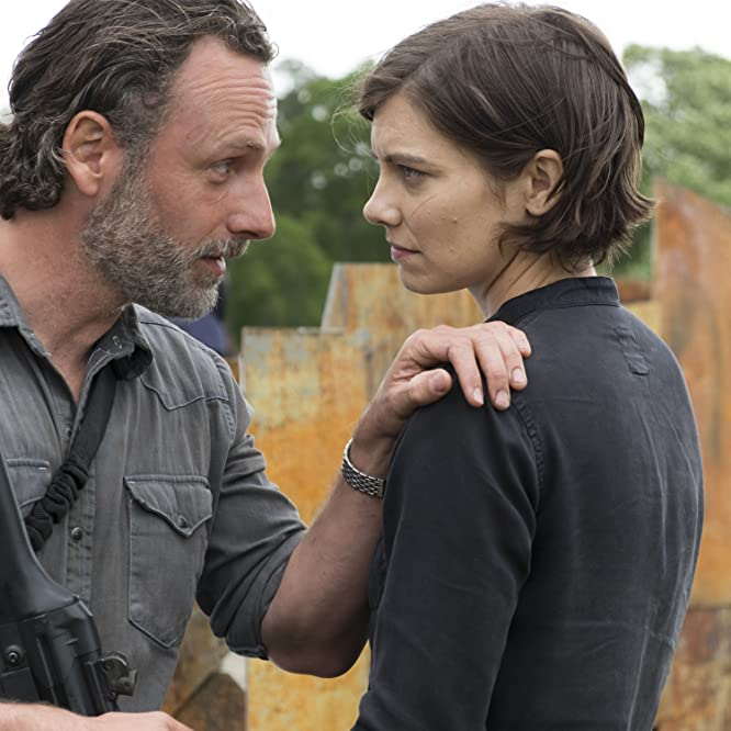 Andrew Lincoln and Lauren Cohan in The Walking Dead (2010)