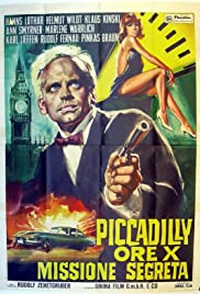 Piccadilly null Uhr zwölf Poster