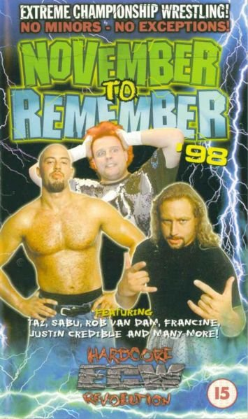Image result for ecw november to remember 1998