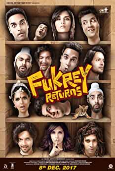Ali Fazal, Richa Chadha, Manjot Singh, Pulkit Samrat, and Varun Sharma in Fukrey Returns (2017)