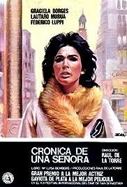 Crónica de una señora Poster
