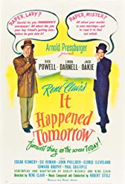 It Happened Tomorrow (1944) Poster - Movie Forum, Cast, Reviews