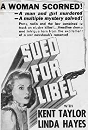 Sued for Libel Poster