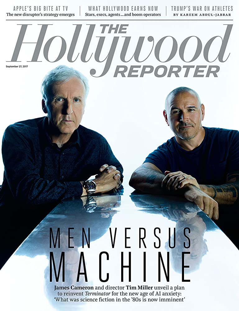 James Cameron and Tim Miller at an event for Untitled Terminator Reboot (2019)