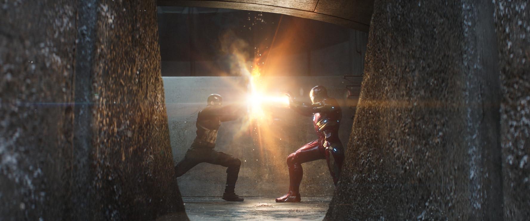 Robert Downey Jr. and Chris Evans in Captain America: Civil War (2016)