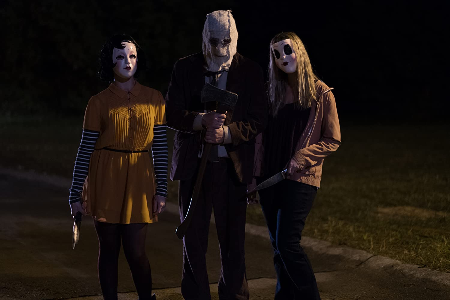 Damian Maffei, Lea Enslin, and Emma Bellomy in The Strangers: Prey at Night (2018)