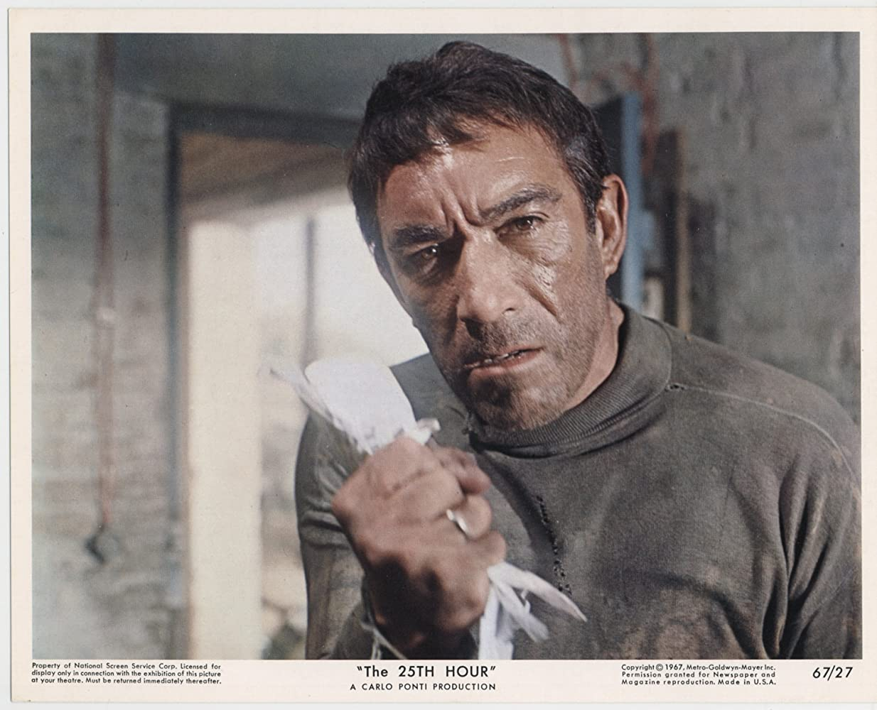 Anthony Quinn in The 25th Hour (1967)