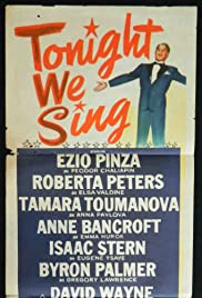 Tonight We Sing Poster