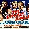 Marilyn Monroe, Sterling Hayden, Louis Calhern, Anthony Caruso, Jean Hagen, Sam Jaffe, and James Whitmore in The Asphalt Jungle (1950)