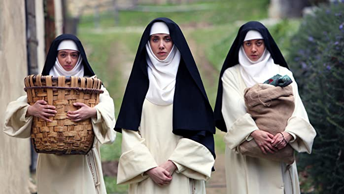 Alison Brie, Kate Micucci, and Aubrey Plaza in The Little Hours (2017)