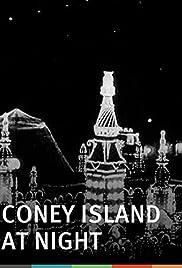 Coney Island at Night Poster