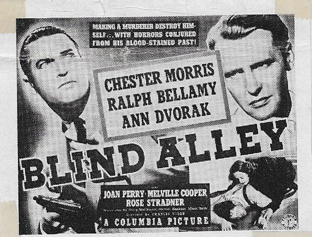 Image result for blind alley 1939 movie poster