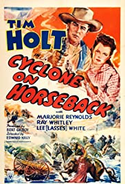 Cyclone on Horseback Poster