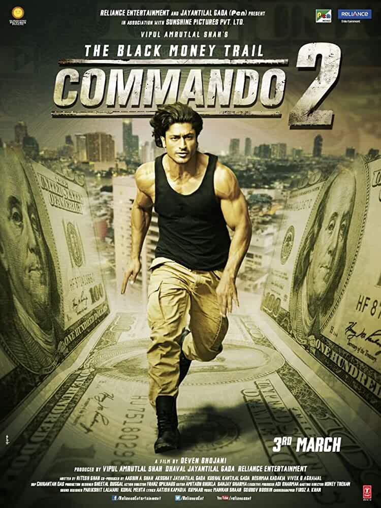 Commando 2 (2017) 175MB DVDRip Hindi Movie ESubs – HEVC Mobile