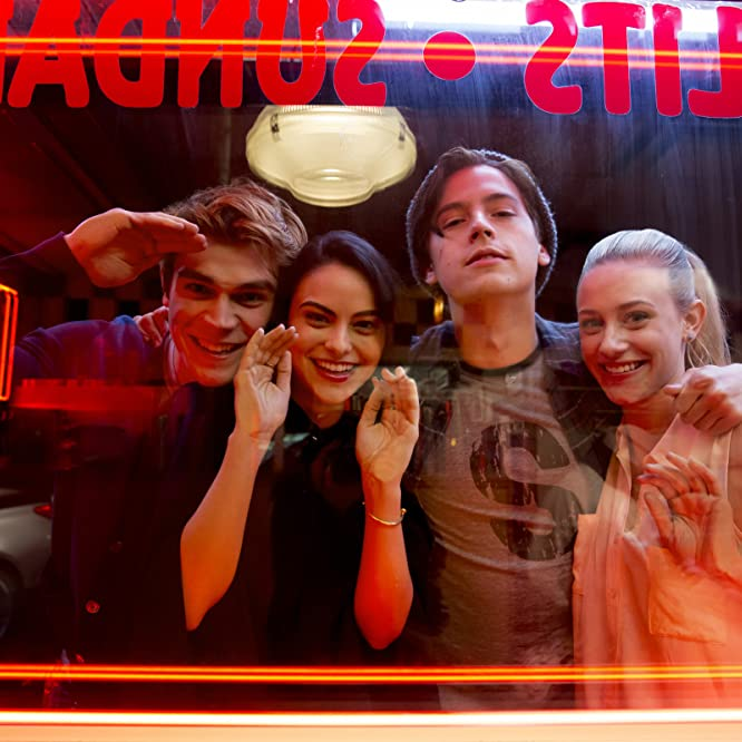 Cole Sprouse, Lili Reinhart, Camila Mendes, and K.J. Apa in Riverdale (2017)