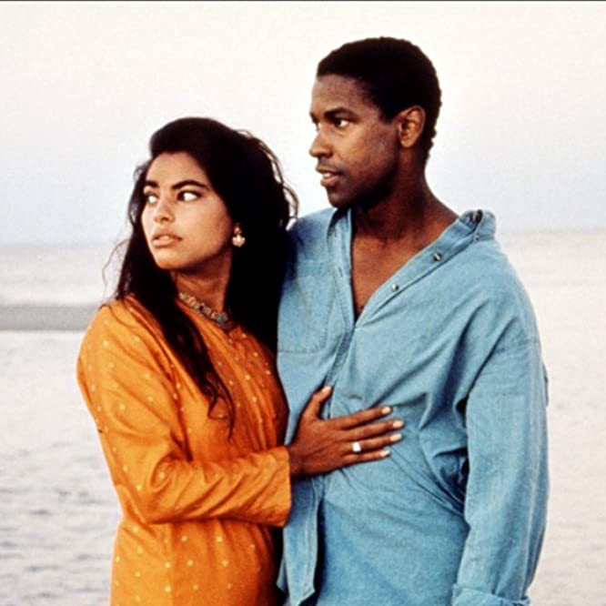 Denzel Washington and Sarita Choudhury in Mississippi Masala (1991)