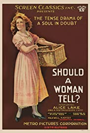 Should a Woman Tell? Poster