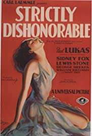 Strictly Dishonorable Poster