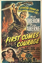 First Comes Courage (1943) Poster - Movie Forum, Cast, Reviews