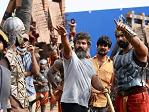 S.S. Rajamouli and Rana Daggubati in Bahubali: The Beginning (2015)