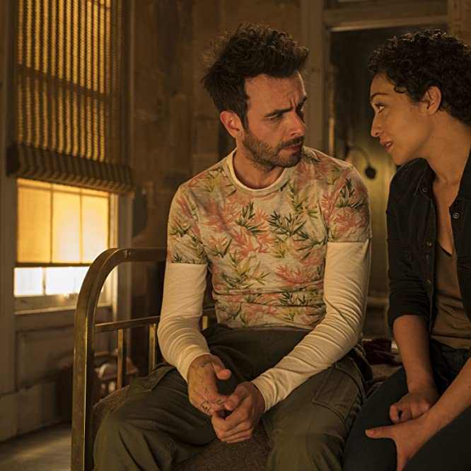 Joseph Gilgun and Ruth Negga in Preacher (2016)