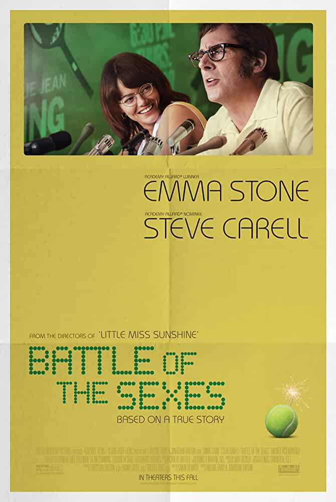 Poster Battle of the Sexes 2017 300MB Movie Download Dual Audio HD Free