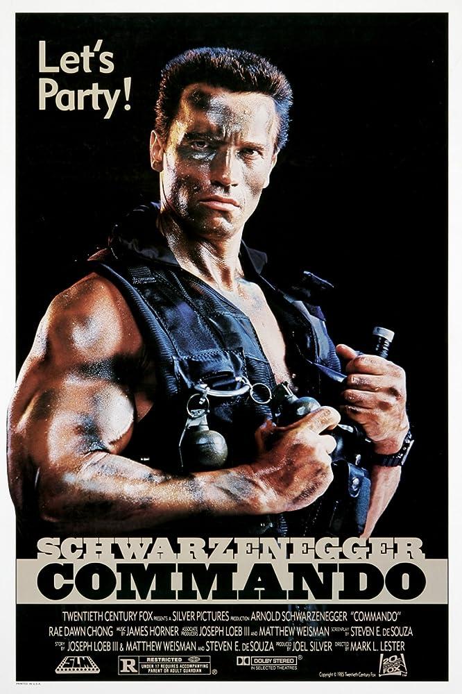 Commando (1985) MV5BZWE0ZjFhYjItMzI5MC00MDllLWE4OGMtMzlhNGQzN2RjN2MwXkEyXkFqcGdeQXVyNDc2NjEyMw@@._V1_SY1000_CR0,0,666,1000_AL_
