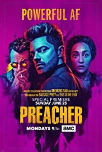 Joseph Gilgun, Dominic Cooper, and Ruth Negga in Preacher (2016)