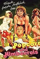 Image of Popcorn und Himbeereis