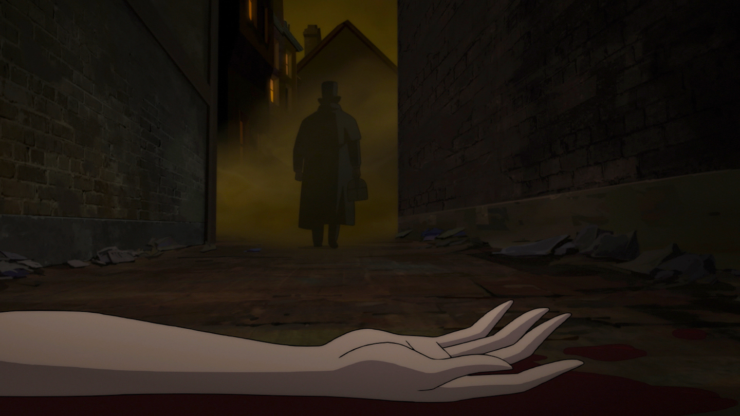 Kari Wuhrer and Scott Patterson in Batman: Gotham by Gaslight (2018)
