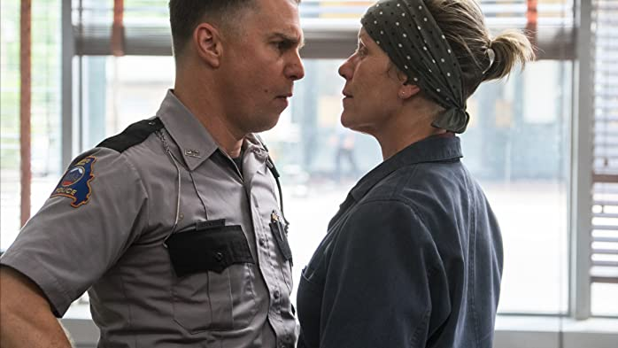 Frances McDormand and Sam Rockwell in Three Billboards Outside Ebbing, Missouri (2017)