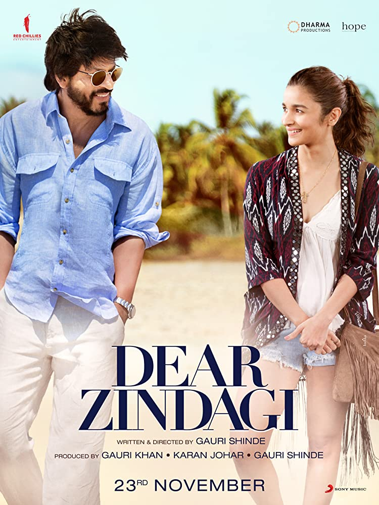 Dear Zindagi 2016 Hindi 720p DVDRip 300MB Movies