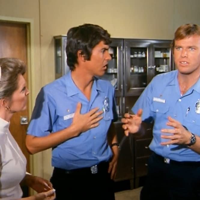 Kevin Tighe, Julie London, and Randolph Mantooth in Emergency! (1972)