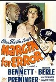 Margin for Error Poster