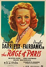 The Rage of Paris (1938) Poster - Movie Forum, Cast, Reviews