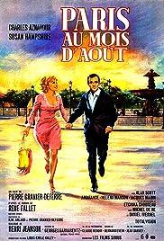 Paris au mois d'août Poster