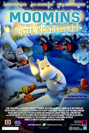 poster,picture of Moomins and the Winter Wonderland