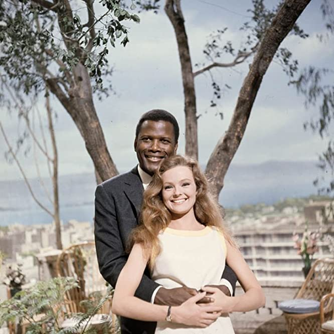 Sidney Poitier and Katharine Houghton in Guess Who's Coming to Dinner (1967)