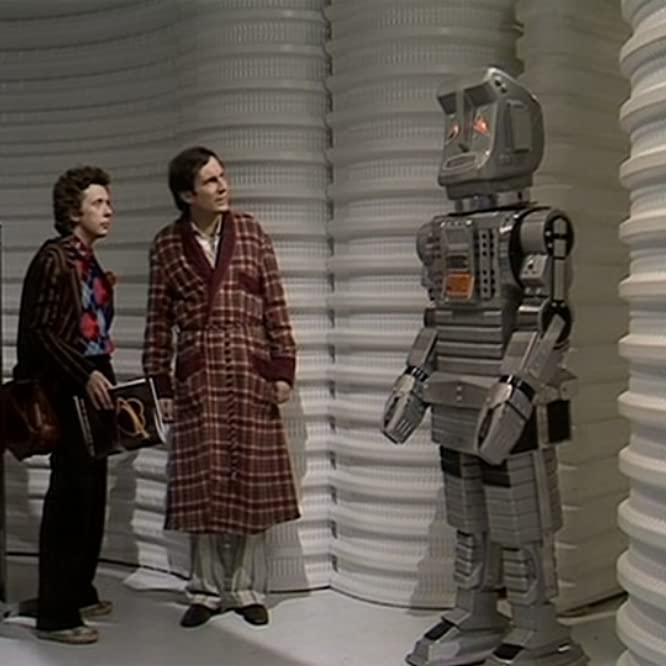 David Dixon, Simon Jones, and Stephen Moore in The Hitchhiker's Guide to the Galaxy (1981)