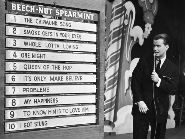 Image result for american bandstand dick clark 50s