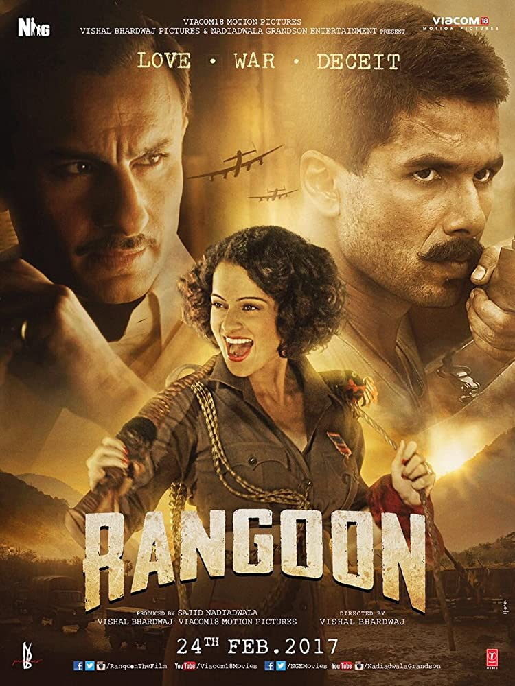 Rangoon 2017 Hindi 720p HEVC DVDRip x265 900MB