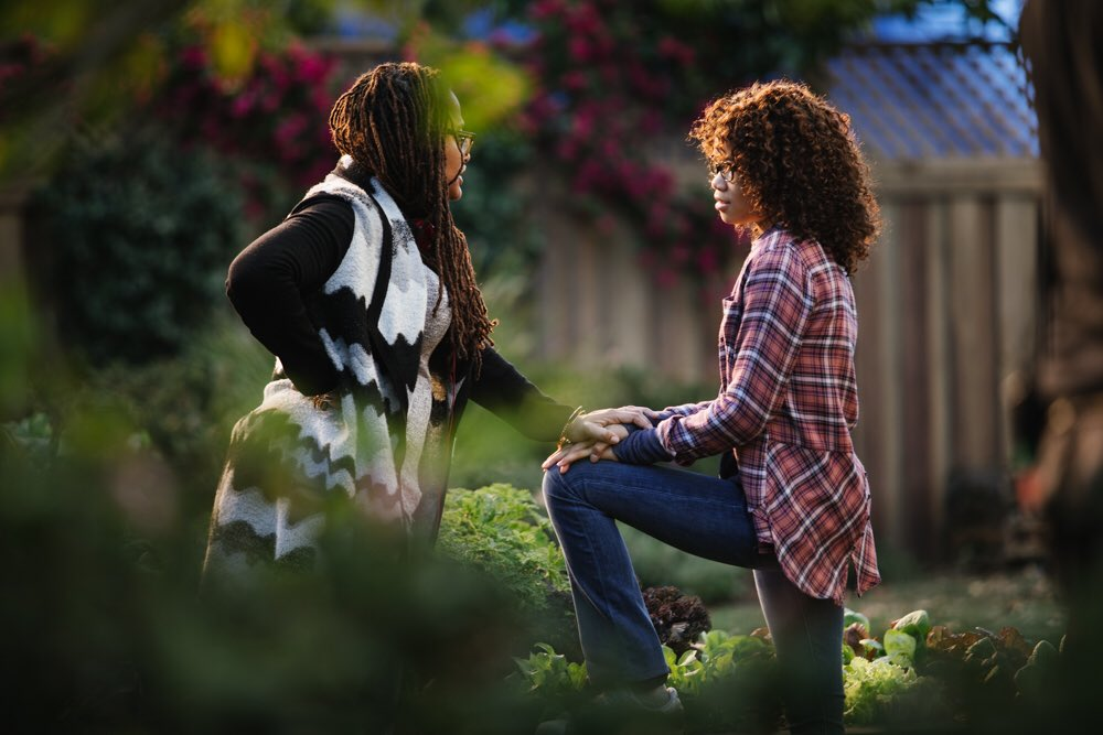 Ava DuVernay and Storm Reid in A Wrinkle in Time (2018)