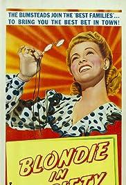 Blondie in Society Poster
