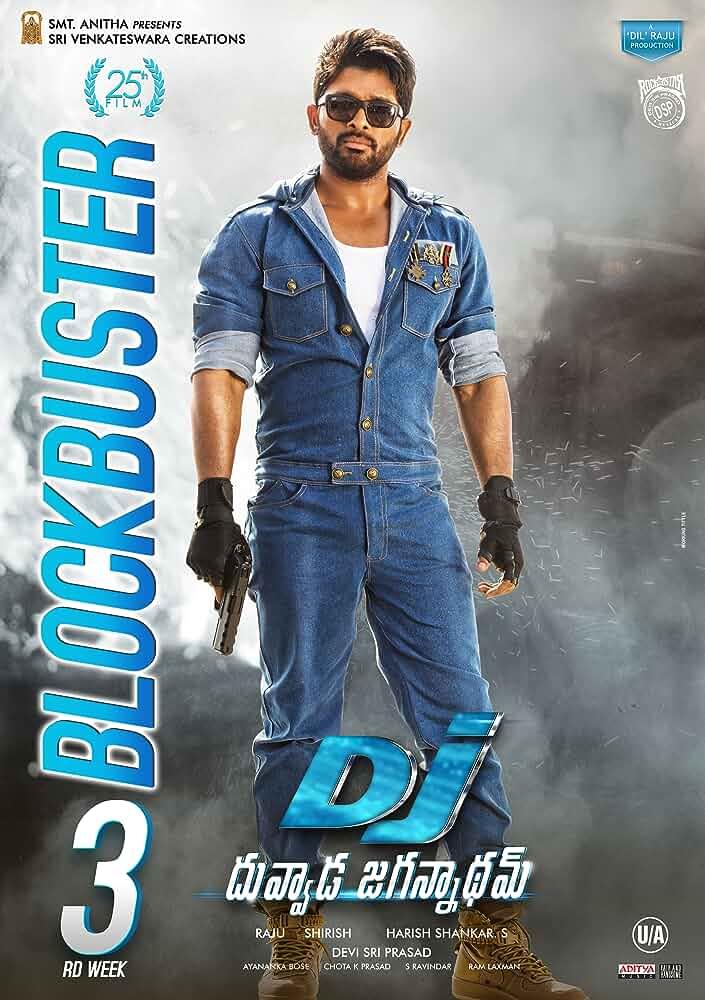 Poster Duvvada Jagannadham 2017 300MB Movie Download Hindi Dubbed HD Free