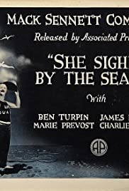 She Sighed by the Seaside Poster